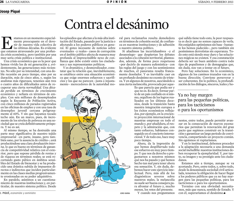 Artículo de Josep Piqué en La Vanguardia